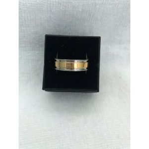 Other - Men's Gold & Silver Stainless Wedding Band Ring